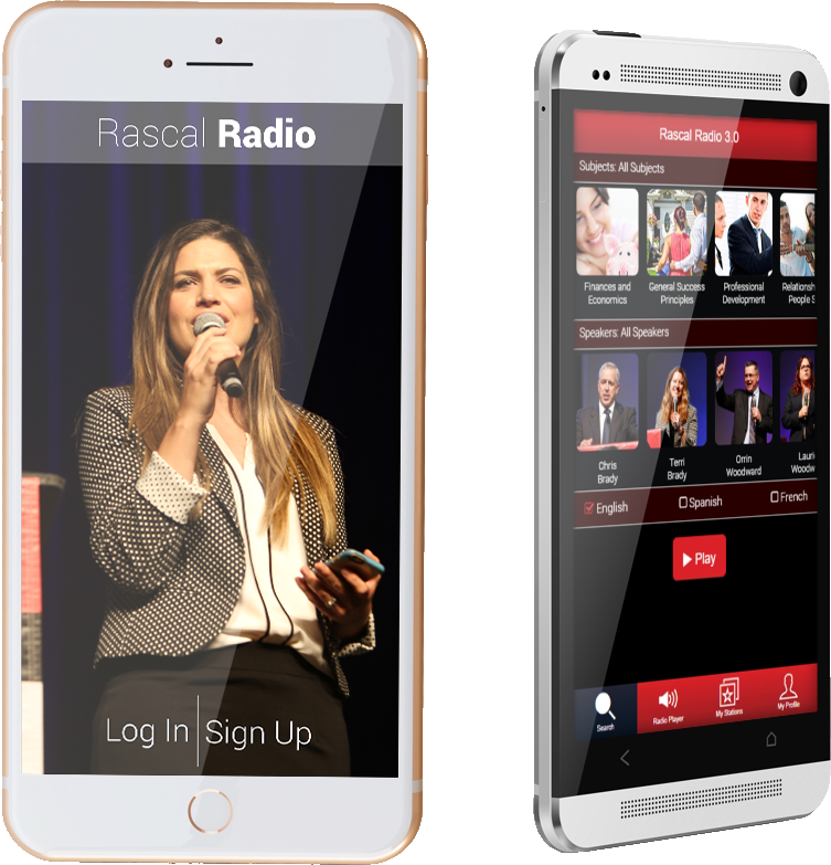 Rascal Radio App on Phone: Login/Sign-up Page